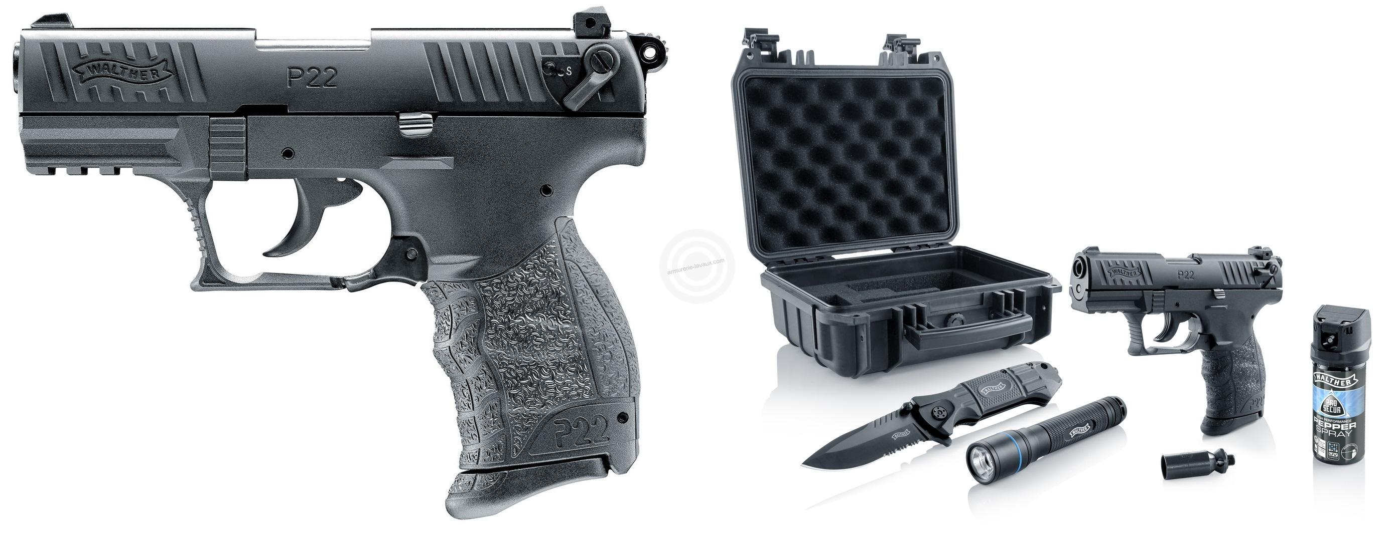 Pistolet WALTHER P22Q Bronzé UMAREX cal.9mm P.A.K