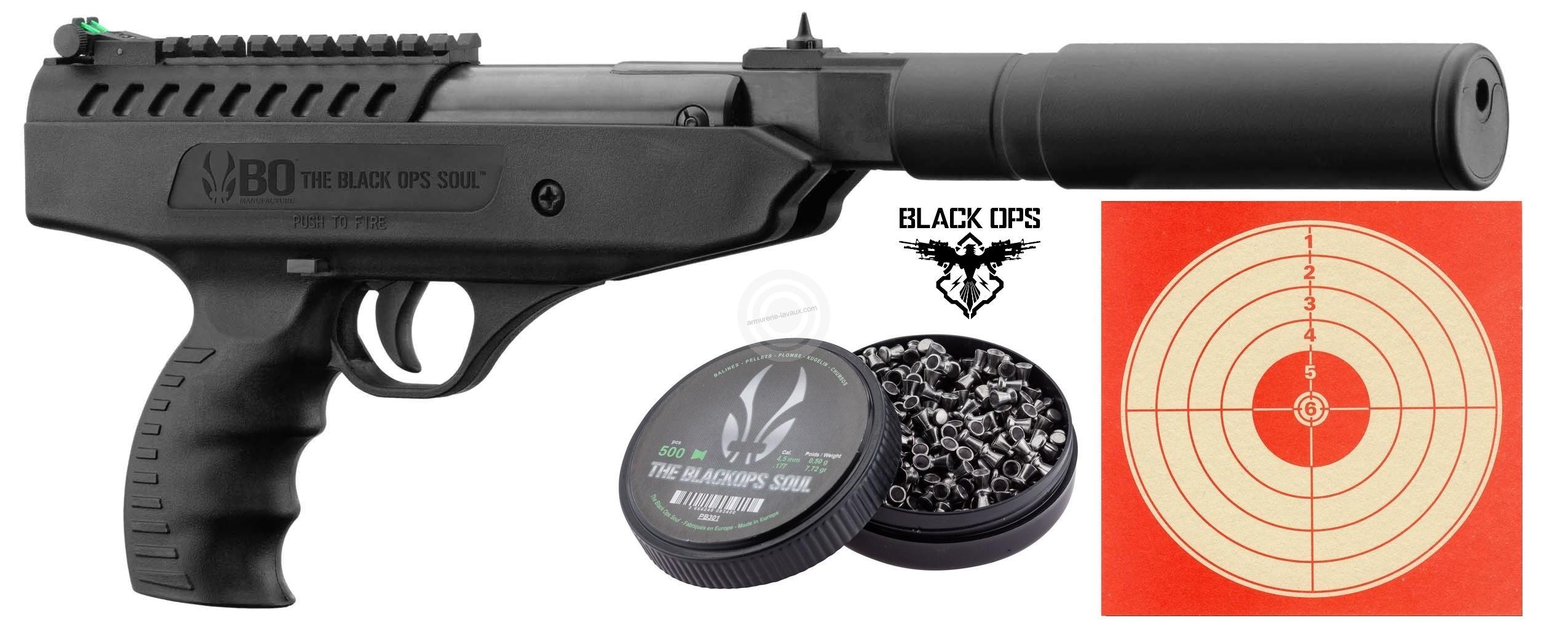 Pistolet à plombs BLACK OPS Langlay Silencer (10 joules)