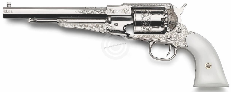 Revolver à Poudre Noire Pietta REMINGTON 1858 Texas Nickelé Luxe