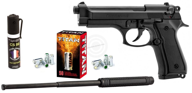 Pistolet à blanc KIMAR 92 Auto Bronzé Cal.9mm PA