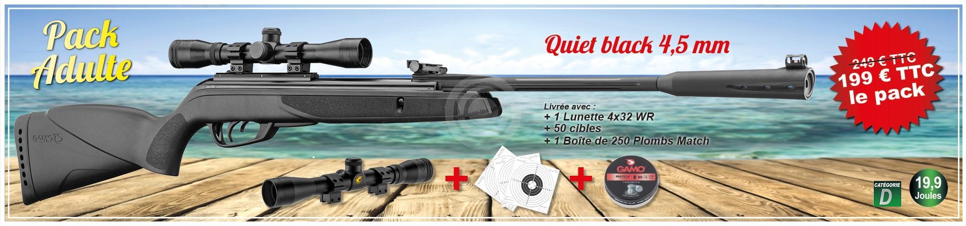 Carabine GAMO Quiet Black Combo