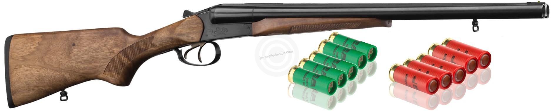 Fusil juxtaposé BAIKAL IJ 43 ''Coach Gun 51cm'' cal.12/70