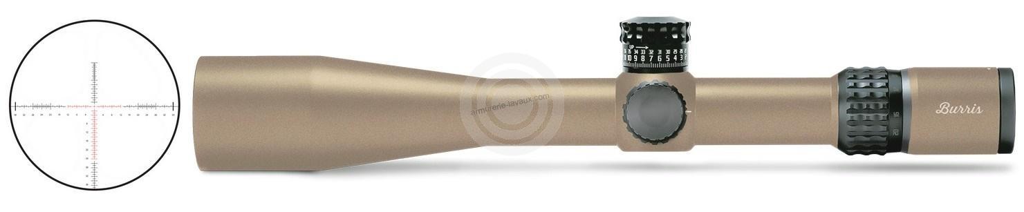 Lunette BURRIS XTREME Tactical XTR II 5-25x50 FDE réticule SCR MIL