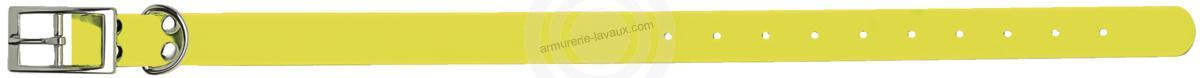 Collier pour chien Biothane Beta JAUNE taille 45 cm / largeur 19mm