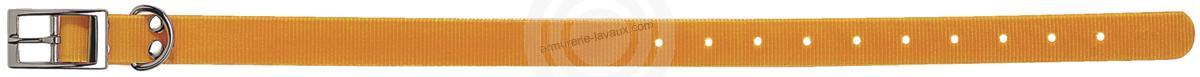 Collier pour chien Biothane BioGold ORANGE taille 60 cm / largeur 25mm
