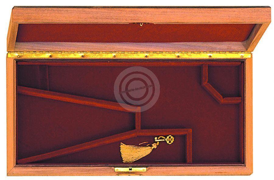 Coffret PIETTA Luxe bois verni pour Revolver poudre noire