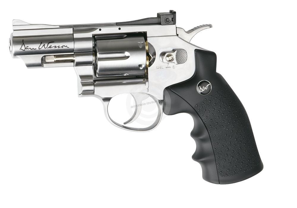 2b2ee5bdd1c9ed Revolver à billes Co2 DAN WESSON 2.5   ASG Nickelé cal.4,5mm - Armes ...