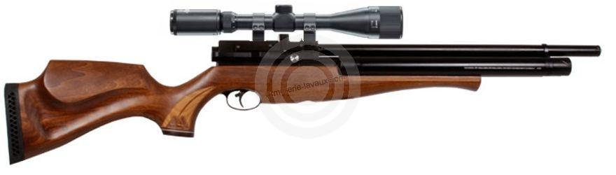 Carabine PCP AIR ARMS S510 SL Extra Bi-tube cal.5,5mm (40 joules) ''Pack SNIPER'' LYNX Varmint 6-24x42 AO