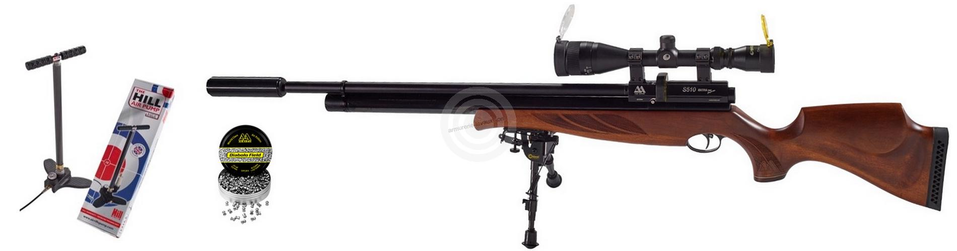 Carabine PCP AIR ARMS S510 SL Extra cal.5,5mm (40 joules)