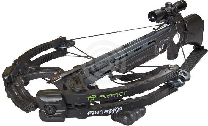 Arbalète BARNETT GHOST 400 Carbon avec carquois et flèches (185 lbs)