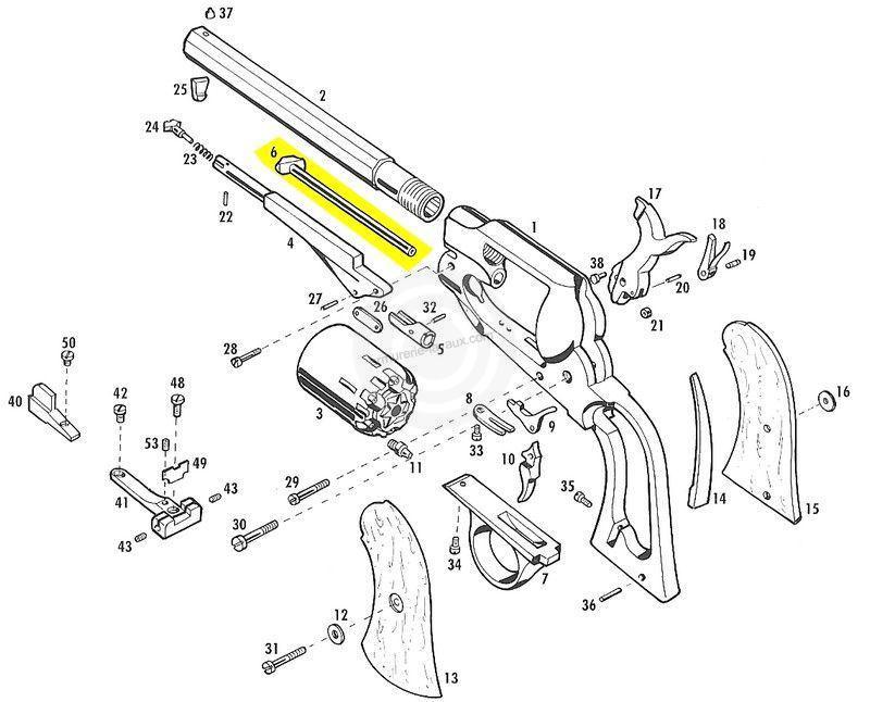 Axe barillet PIETTA Remington Nickelé