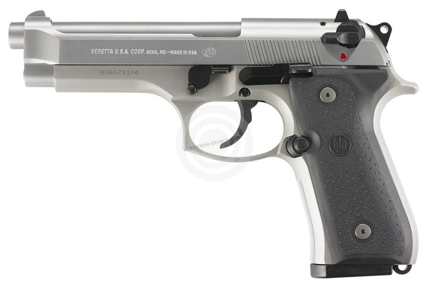 Pistolet BERETTA 92FS Inox calibre 9x19 Parabellum