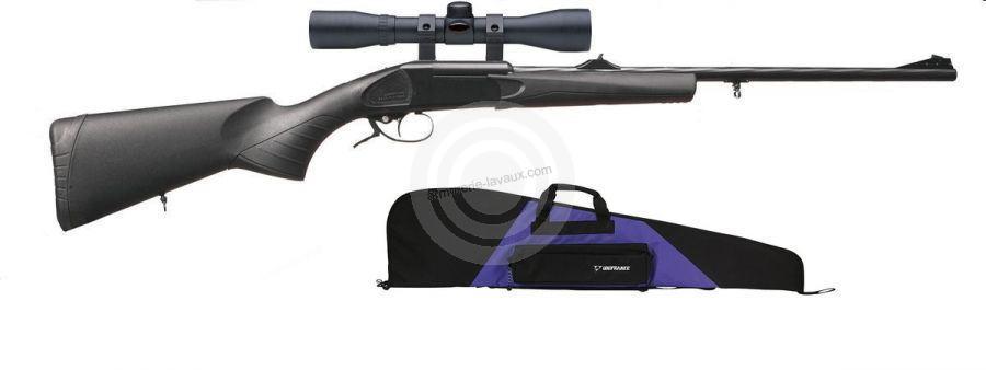 Carabine BAIKAL IJ 18 Synthétique cal.222 Rem lunette 3-9x40 LYNX fourreau mauve