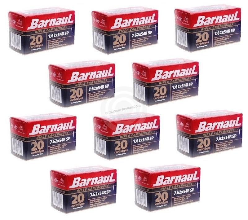 BARNAUL cal.7.62x54 R Soft Point (lot de 10 boites)