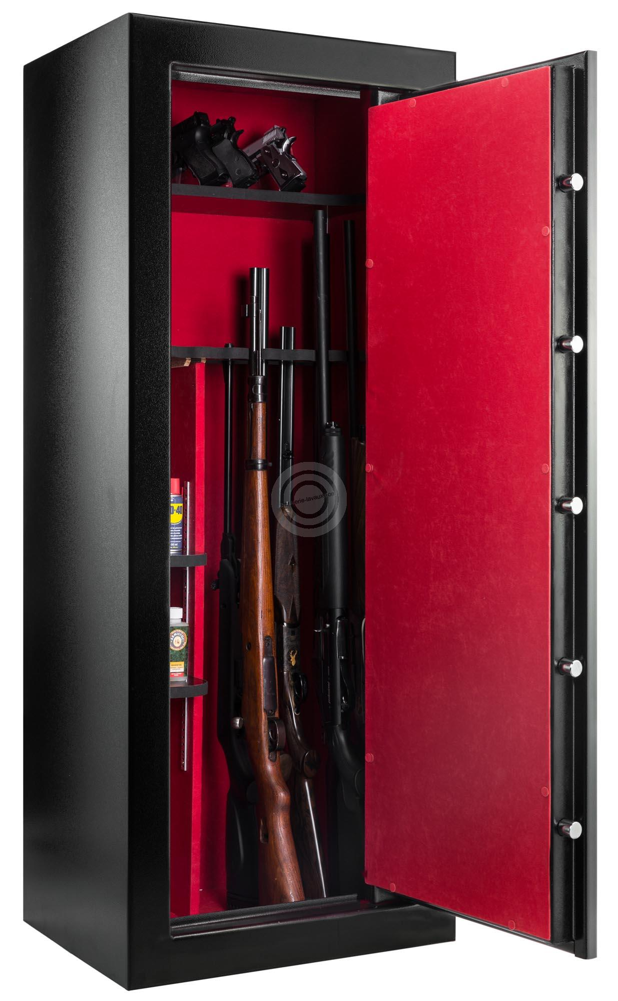 coffre pour armes rietti premium 133kg 18 armes. Black Bedroom Furniture Sets. Home Design Ideas