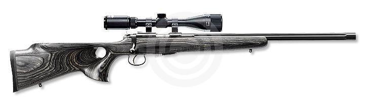 Carabine 22LR CZ 455 Varmint THUMBHOLE GREY avec lunette HAWKE 6-24x44 Mildot