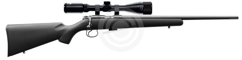 Carabine 22LR CZ 455 Synthétique avec lunette HAWKE Varmint 4-16x44 Mildot