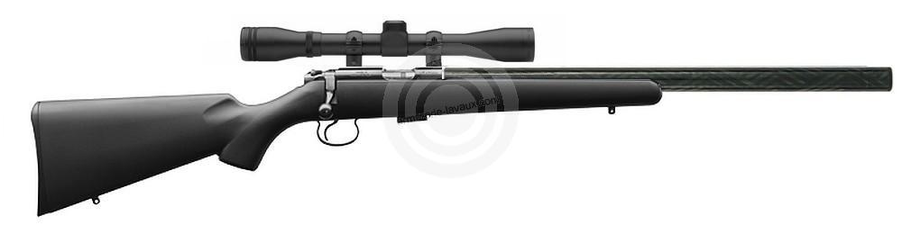 Carabine 22LR CZ 455 Silence Synthétique avec lunette BAUER 3-9x40