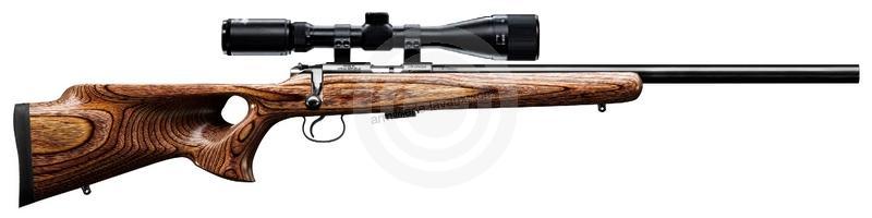 Carabine 22LR CZ 455 Varmint THUMBHOLE Fileté avec lunette HAWKE Varmint 4-16x44 Mildot