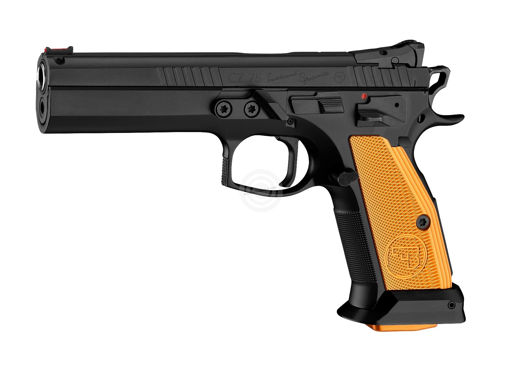 Pistolet CZ 75 Tactical Sport Orange calibre 40 SW