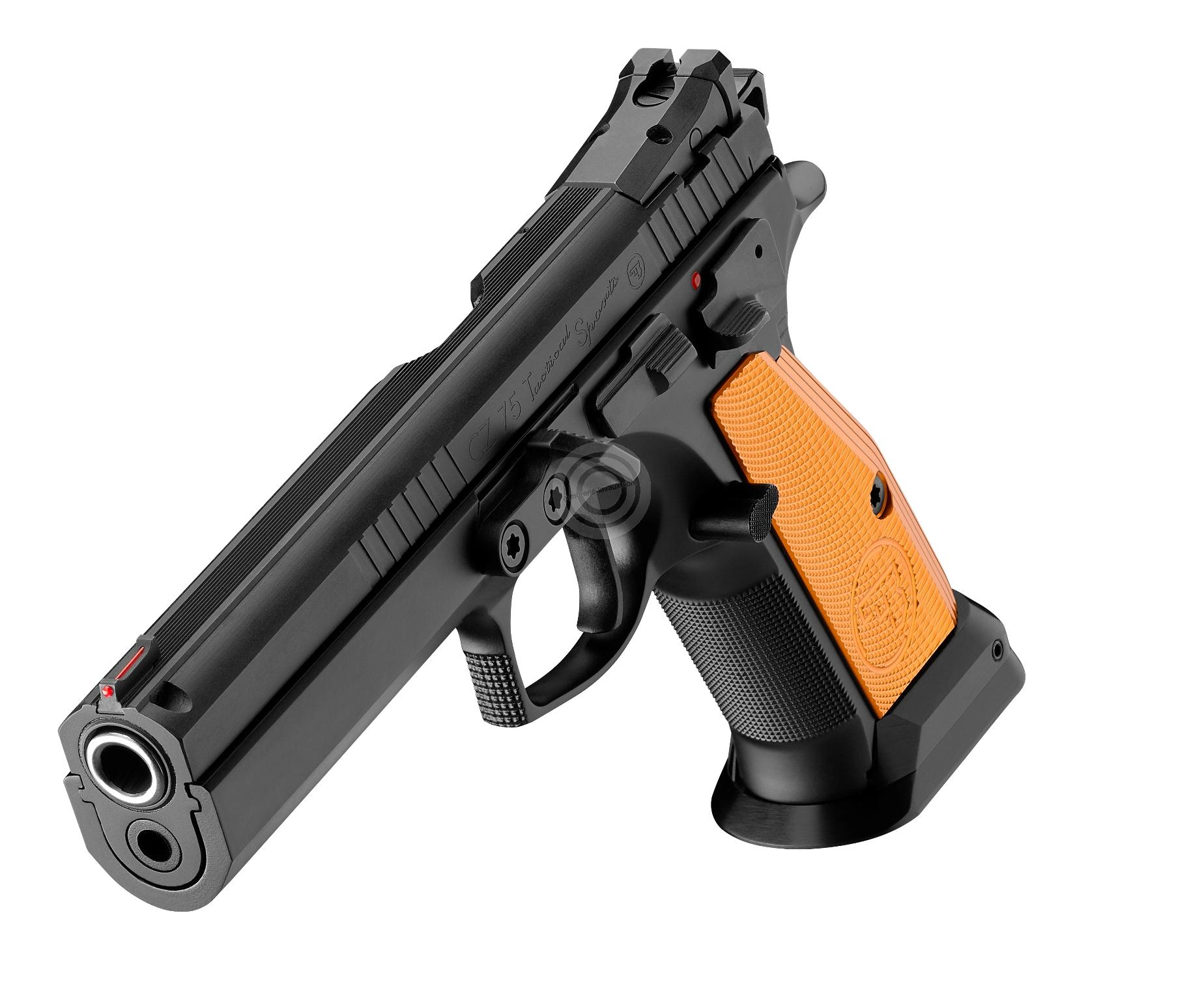 pistolet cz 75 tactical sport orange calibre 9x19