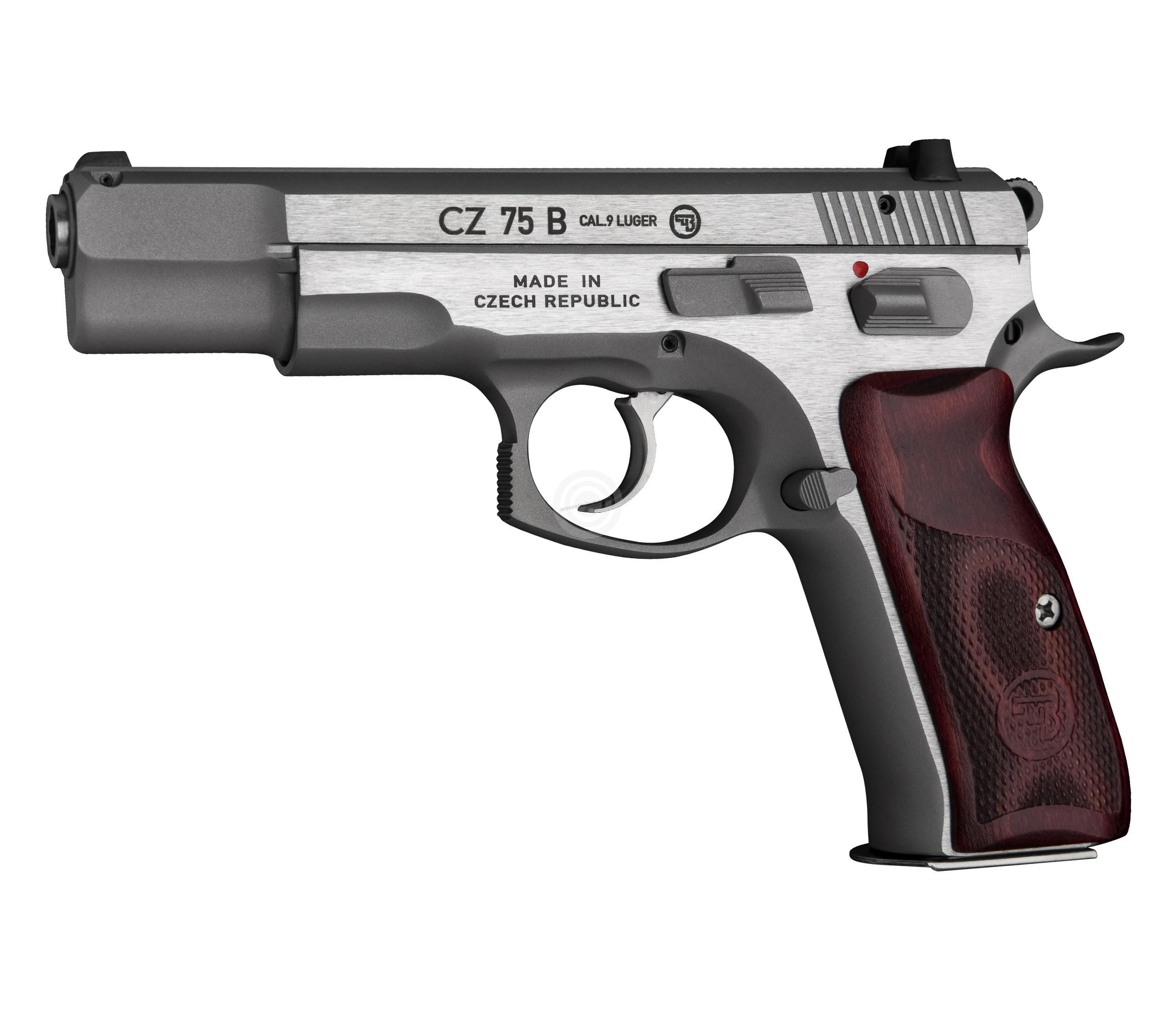Pistolet CZ 75 B New Edition INOX calibre 9x19
