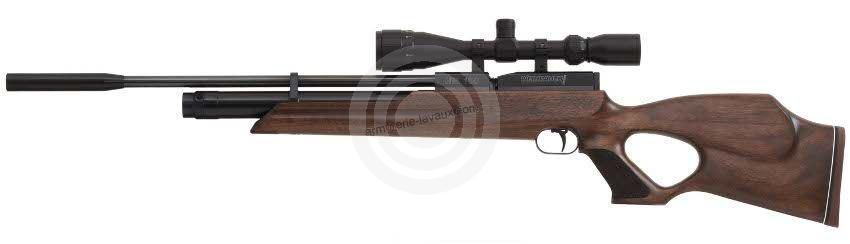 Carabine PCP WEIHRAUCH HW100 T (30 joules) cal.4,5mm ''lunette FUZYON 6-24x50 Varmint Mildot''