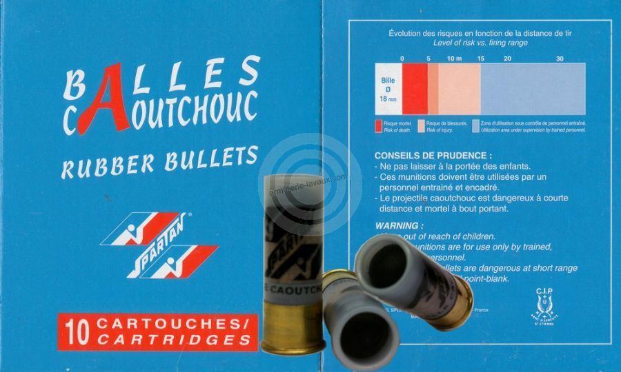 Balles caoutchouc RUBBER BULLETS cal.12/70