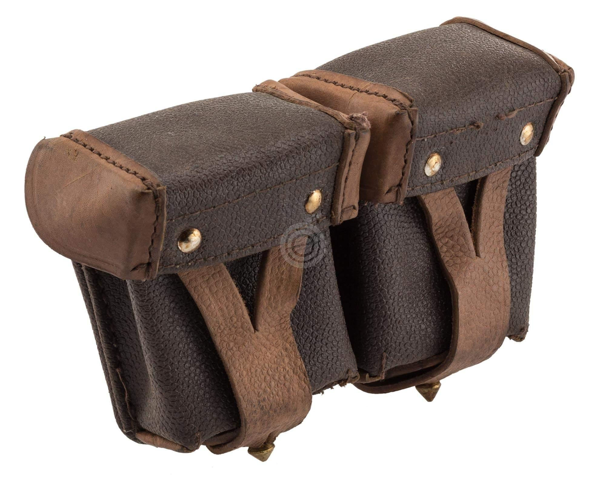 Cartouchière double cuir pour Fusil MOSIN NAGANT