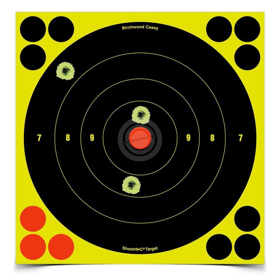Cibles adhésives rondes 20x20 BIRCHWOOD Shoot (paquet de 6)