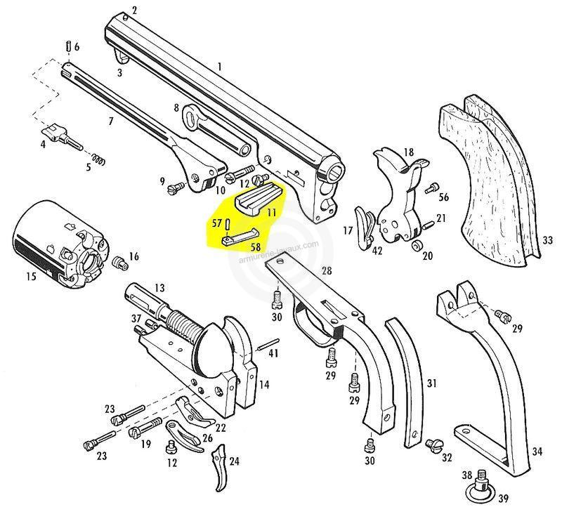 Clavette d'assemblage PIETTA Colt
