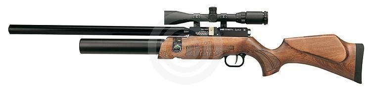 Carabine PCP COMETA Lynx V10 Bois (8 � 25 joules) cal.4,5mm avec lunette LYNX Varmint 6-24x42 AO