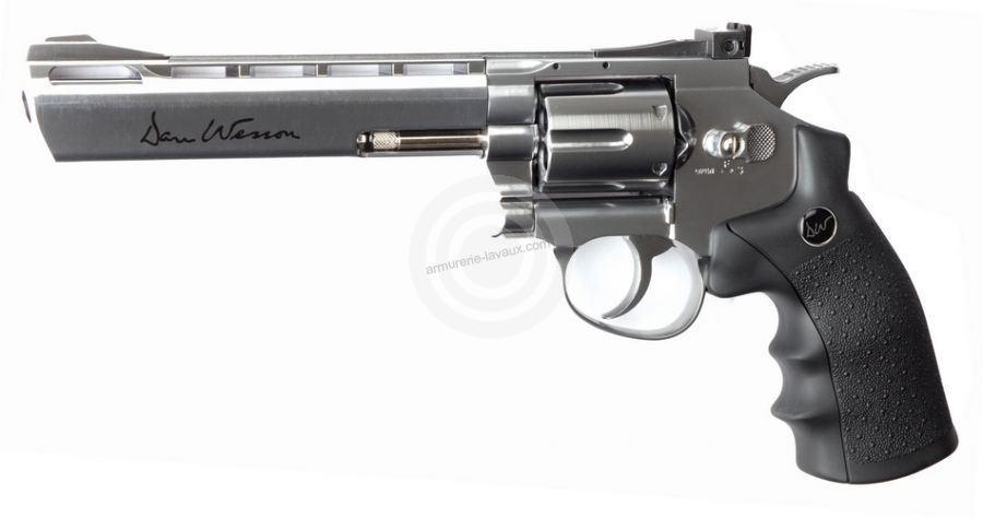 Revolver DAN WESSON Chromé 6'' ASG cal.4,5mm