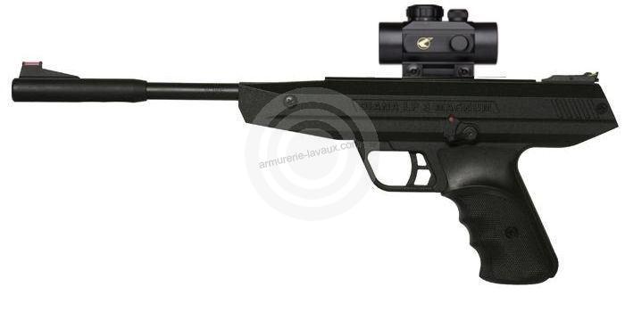 Pistolet à plombs Diana LP 8 Magnum avec point rouge BZ30 (7,5 joules)