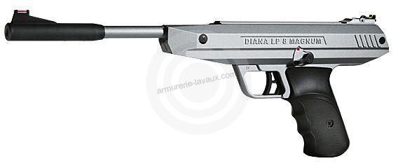 Pistolet à plombs Diana LP 8 Magnum Silver (7,5 joules)