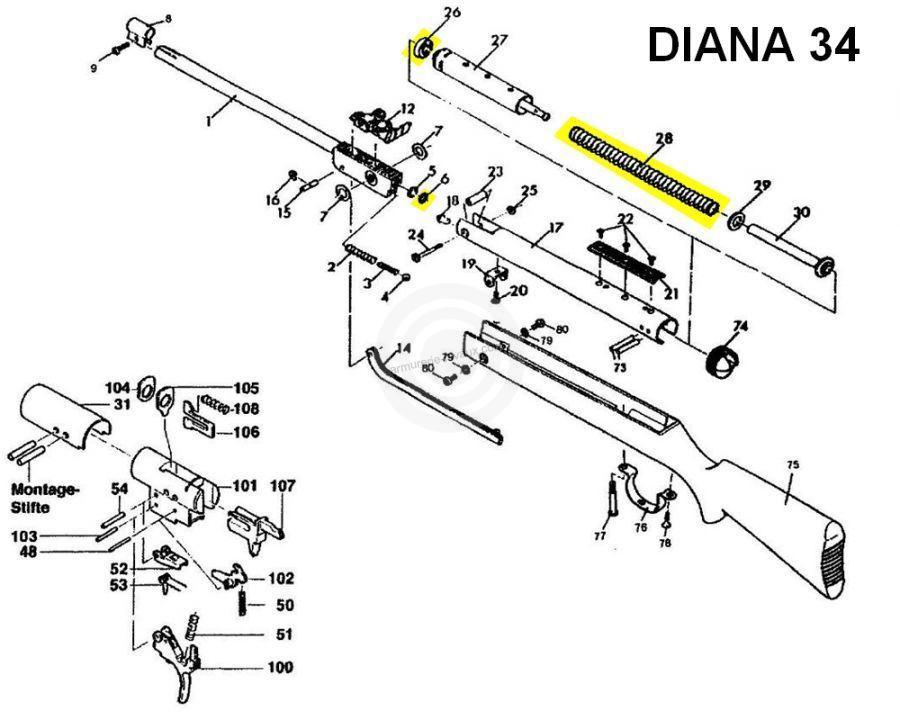 Kit de compression DIANA carabine Mod.34
