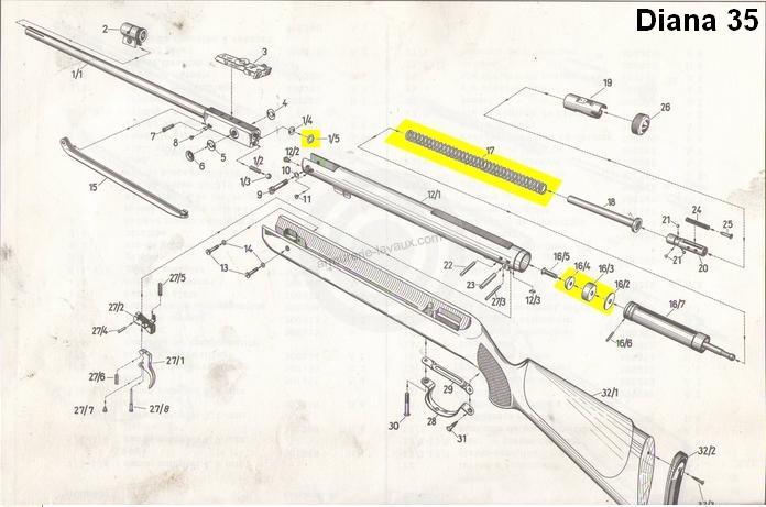 Kit de compression DIANA carabine Mod.35