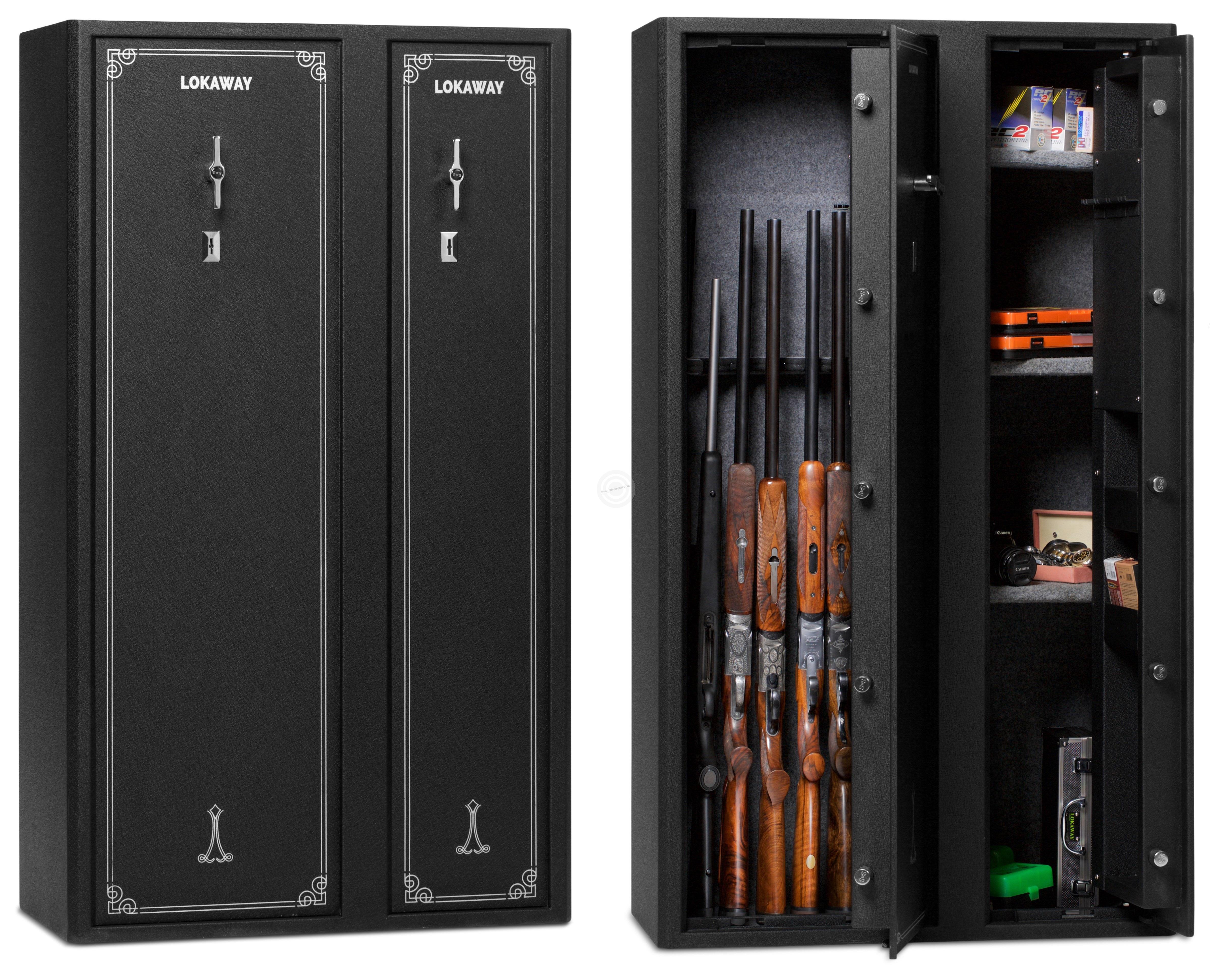 coffre double pour armes lokaway deluxe 24 armes avec. Black Bedroom Furniture Sets. Home Design Ideas