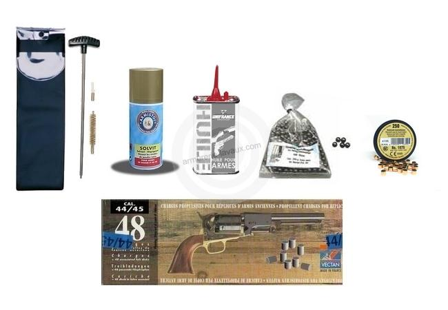 Kit pr�t � tirer pour Revolver Poudre Noire Cal.44