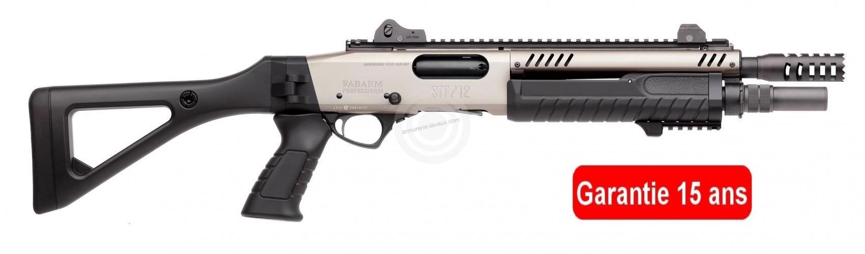Fusil à pompe FABARM STF12 Compact Professionnal Nickelé 11