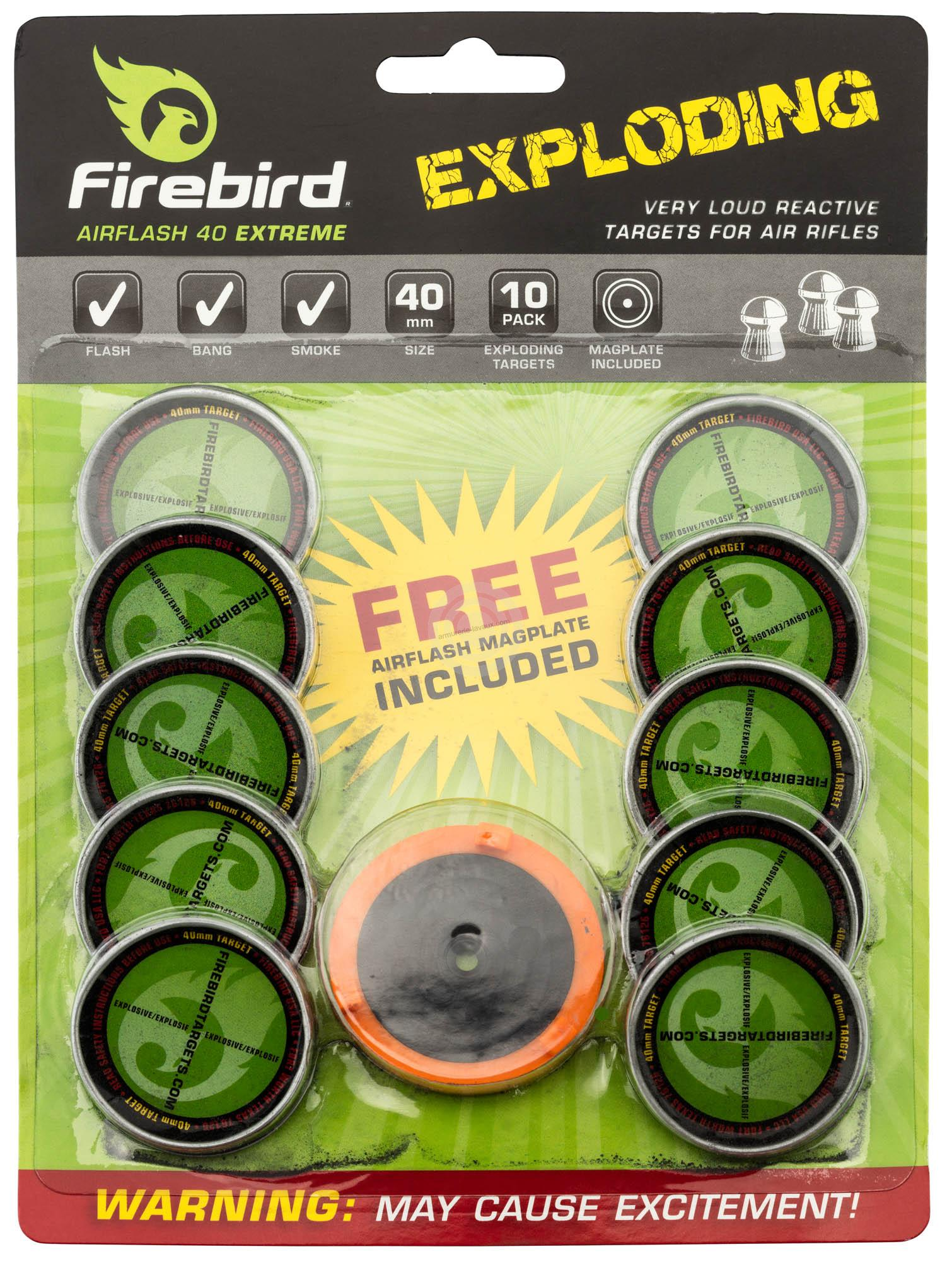 Cibles FIREBIRD AIRFLASH Extrem détonnantes et réactives 40mm