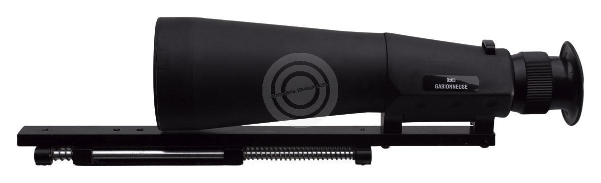 Lunette GABION Fuzyon 9x63 avec montage et mallette (Modèle MP155)