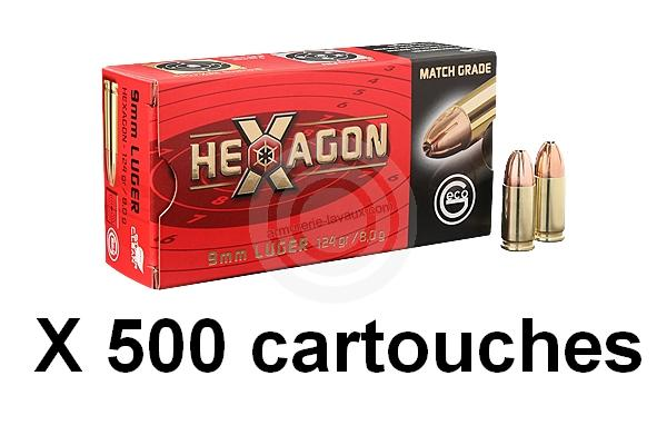 GECO cal.9mm PARA HEXAGON /500 cartouches
