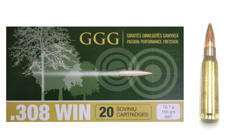 GGG cal.308 Win SIERRA SBT 165 gr /20