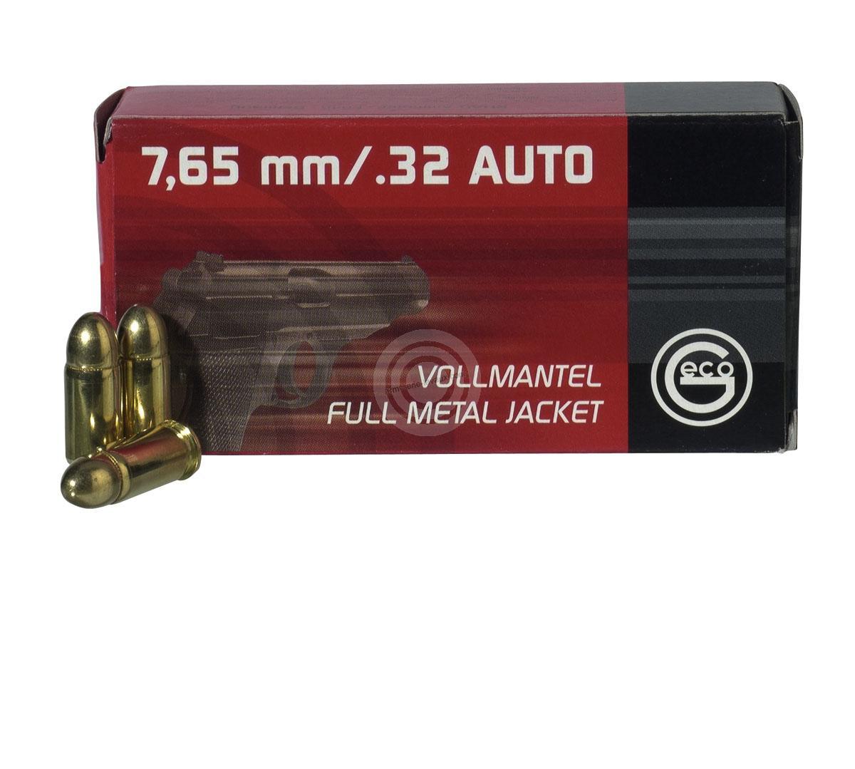 GECO cal.7,65 mm (.32 Auto) FMJ Round Nose