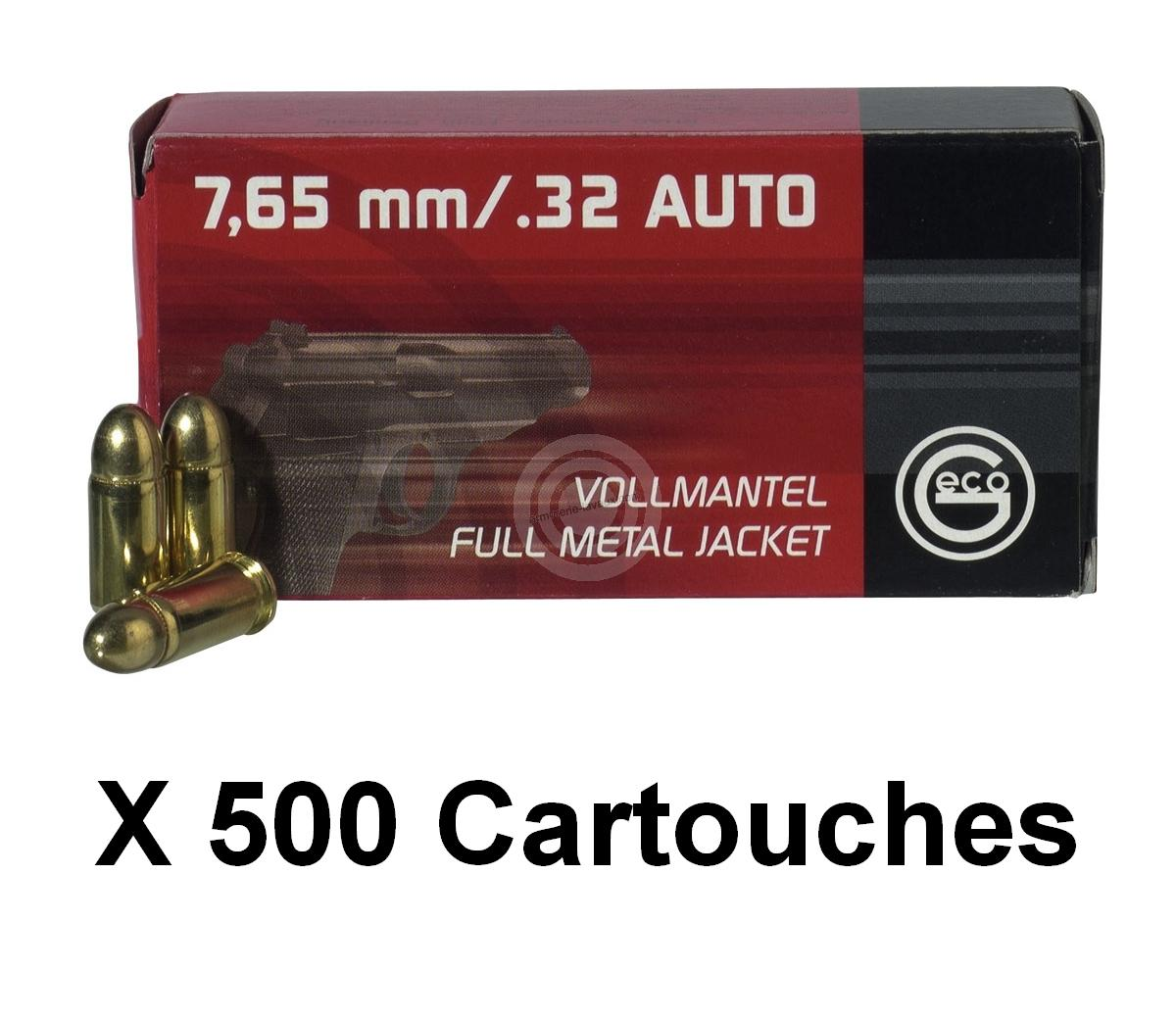 GECO cal.7,65 mm (.32 Auto) FMJ Round Nose /500 cartouches