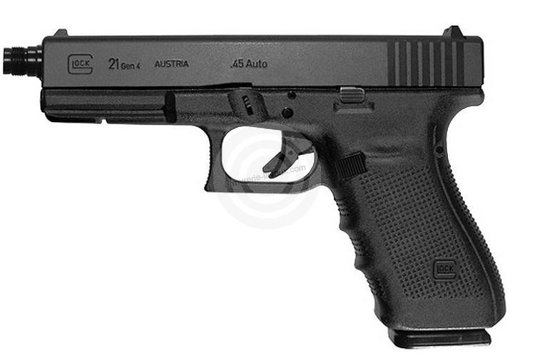 Pistolet GLOCK 21 Gen4 Fileté cal.45 ACP
