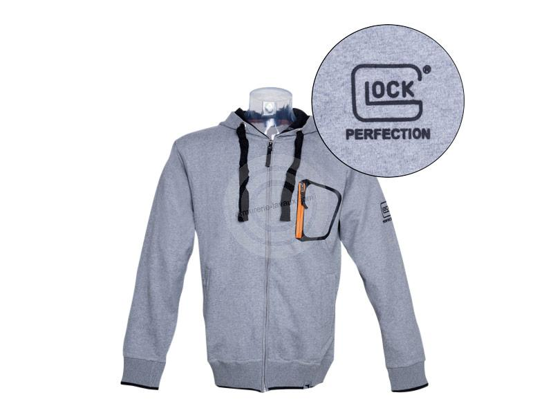 Sweat zippé capuche gris GLOCK Taille.S
