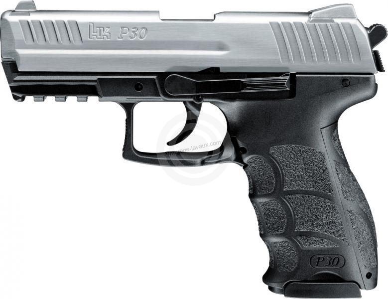 Pistolet HK P30 Acier Steel Mat cal.9mm PA UMAREX