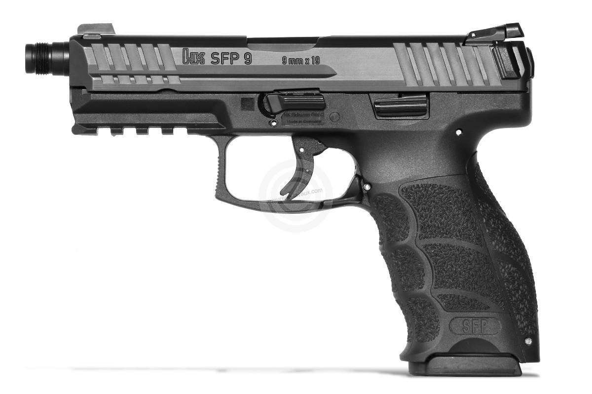 Pistolet HK SFP9-SF SD Tactical Noir cal.9x19